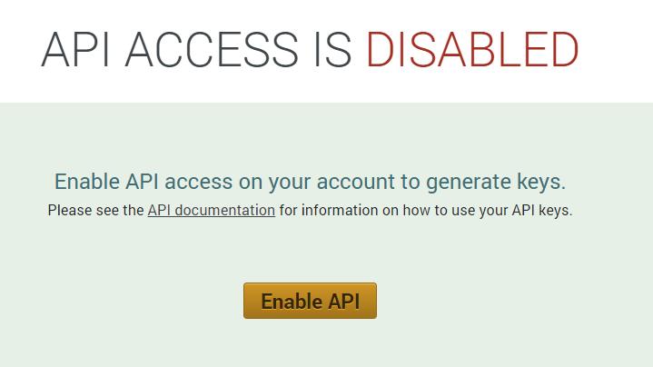 API not enabled