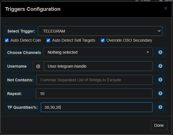 Telegram Trigger Configuration