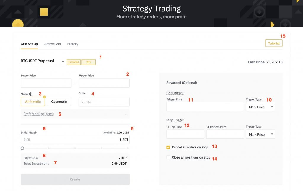 Grid Trading Bot Advanced features
