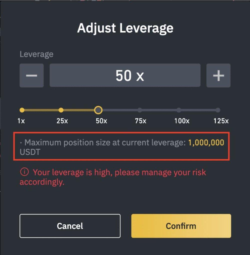 Adjusting leverage value